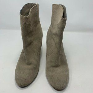 Nine West Womens Dashiell Ankle Boots Gray Size 9